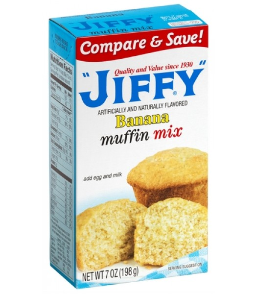 Jiffy Banana Muffin Mix 7oz (198g) Food and Groceries Jiffy