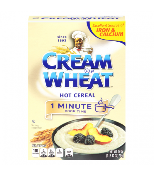 Cream of Wheat Hot Cereal - 1 Minute Cook Time - 28oz (794g) Food and Groceries