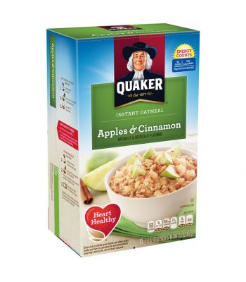Quaker Instant Oatmeal Apples & Cinnamon - 15.1oz (430g) Food and Groceries Quaker