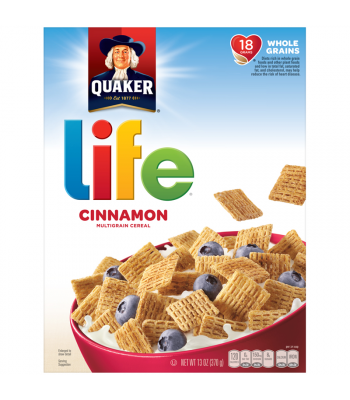 Quaker Life Cinnamon Multigrain Cereal Box 13oz (370g) Breakfast & Cereals Quaker