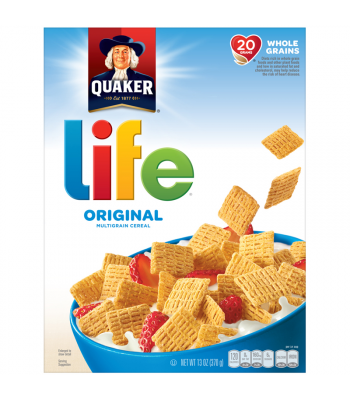 Quaker Life Original Cereal - 13oz (370g) Food and Groceries Quaker