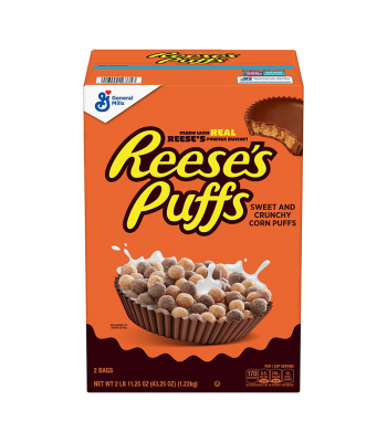 Reese's Puffs Cereal GIANT box - 43.25oz (1.22kg)