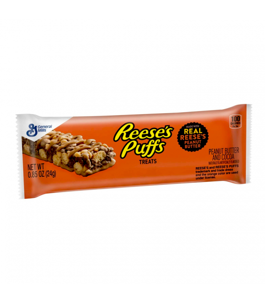 Reese's Puffs Cereal Treat Bar - 0.85oz (24g) Chocolate, Bars & Treats Reese's