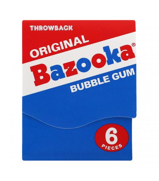 Bazooka Gum Throwback Mini Wallet 6-Piece Pack (43g) Sweets and Candy Bazooka