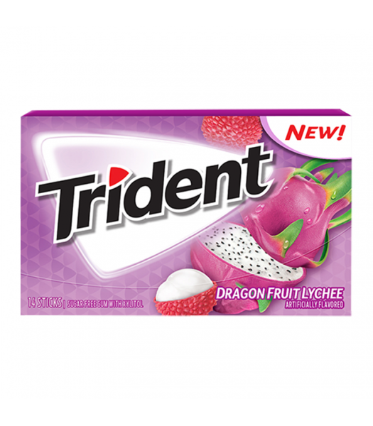 Trident Dragonfruit Lychee 14pc Sweets and Candy Trident