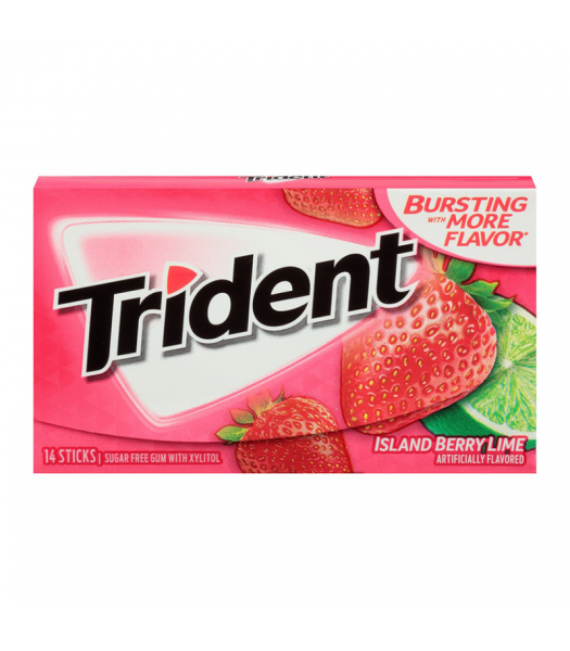 Trident Gum Island Berry Lime 14pc Sweets and Candy Trident