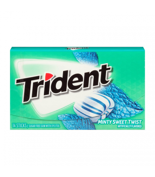 Clearance Special - Trident Gum Minty Sweet Twist 14pc **Best Before: 27 August 21** Clearance Zone