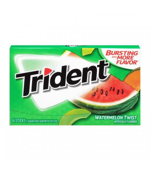 Trident Watermelon Twist Gum 14pc Sweets and Candy Trident
