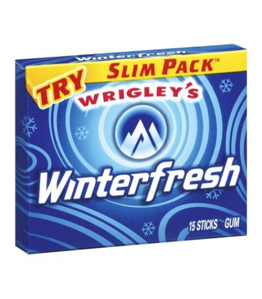 Clearance Special -  Wrigley's Winterfresh Chewing Gum 15-Piece Slim Pack **Best Before: 04 Octobeer 21** Clearance Zone