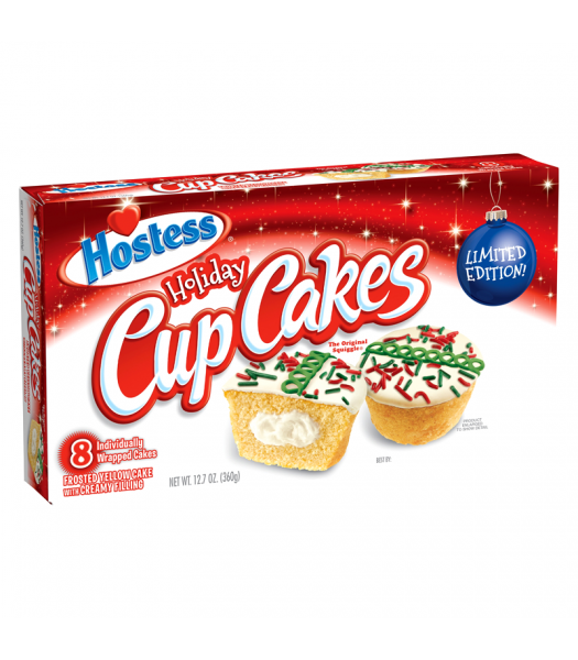 Hostess Holiday Cup Cakes 8-Pack - 12.7oz (360g) [Christmas] Cookies and Cakes Hostess