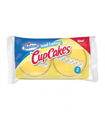 Hostess Iced Lemon Cupcakes 2-Pack - 3.17oz (90g) Cookies and Cakes Hostess