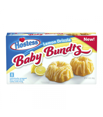 Hostess Lemon Drizzle Baby Bundts 8-Pack - 10oz (284g) Cookies and Cakes Hostess