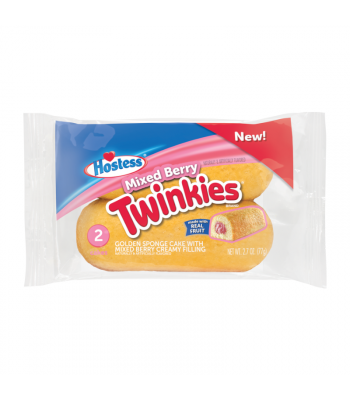 Hostess Mixed Berry Twinkies - Twin Pack - 2.7oz (77g) Cookies and Cakes Hostess