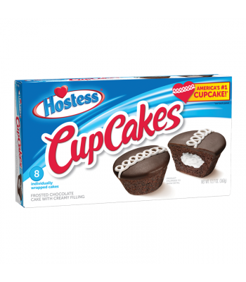 Hostess Frosted Chocolate Cup Cakes 8-Pack 12.7oz (360g) Snack Cakes Hostess
