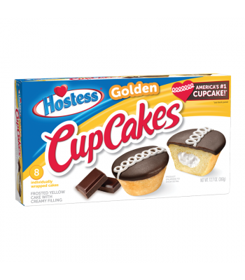 Hostess Golden Cupcakes - 8-Pack - 12.7oz (360g) Cookies and Cakes Hostess