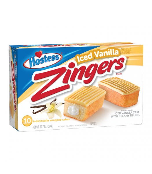 Hostess Zingers Vanilla 10-Pack 12.7oz (360g) Cookies and Cakes Hostess