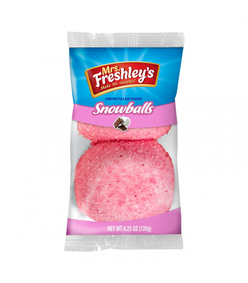 Mrs Freshley's Pink Snowballs Cakes Twin Pack Cookies and Cakes Mrs Freshley's