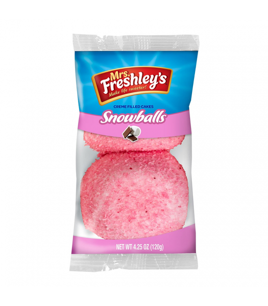 Mrs Freshley's Pink Snowballs Cakes Twin Pack