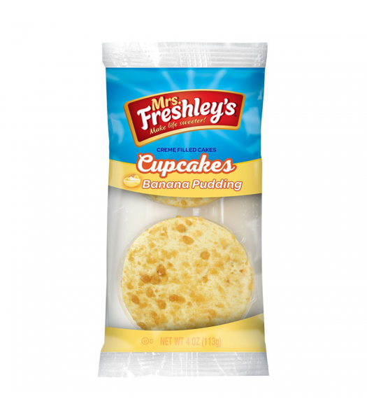 Mrs Freshleys Banana Pudding Cupcakes Twin Pack - 4oz (113g) Cookies and Cakes Mrs Freshley's