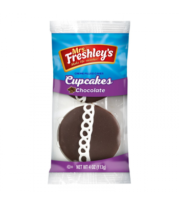 Mrs Freshley's Chocolate Cupcakes Twin Pack 4oz (113g) Snack Cakes Mrs Freshley's