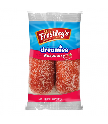 Mrs Freshley's Raspberry Dreamies Twin Pack 4oz (113g) Snack Cakes Mrs Freshley's