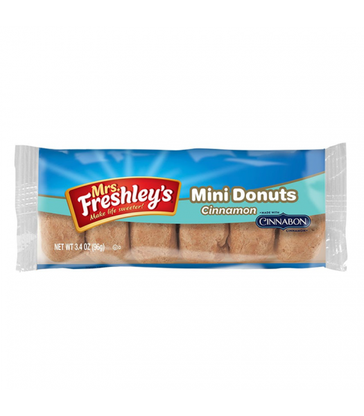 Mrs Freshley's Cinnamon Mini Donuts 3oz (85g) Donuts Mrs Freshley's
