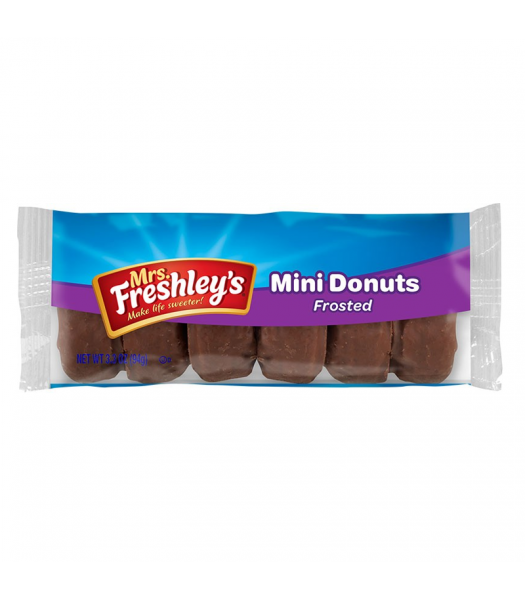 Mrs Freshley's Frosted Chocolate Mini Donuts 3.3oz (93g) Donuts Mrs Freshley's