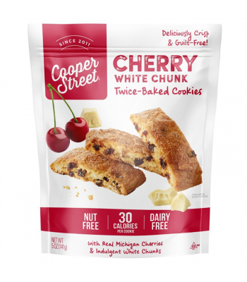 Cooper Street - Cherry White Chunk Twice-Baked Cookies - 5oz (141g) Cookies & Biscuits Cooper Street