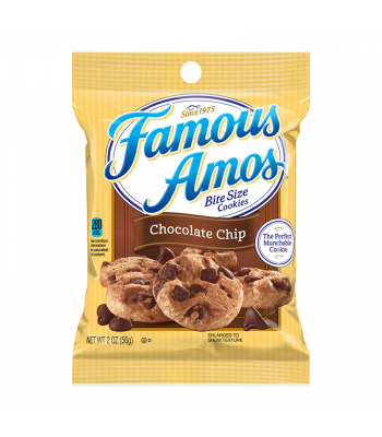 Kellogg's Famous Amos Chocolate Chip Cookies - 2oz (56g) Cookies and Cakes Kellogg's