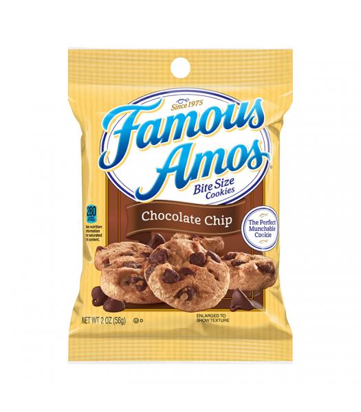 Kellogg's Famous Amos Chocolate Chip Cookies - 2oz (56g) Cookies and Cakes Kellogg's