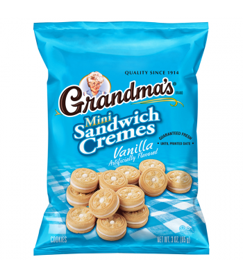 Grandma's Vanilla Mini Sandwich Cremes - 2.12oz (60g) Cookies and Cakes Grandma's Cookies