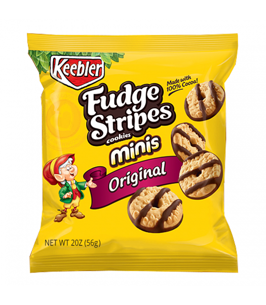 Keebler Fudge Stripes Cookies Minis Original 2oz (56g)  Cookies and Cakes Keebler