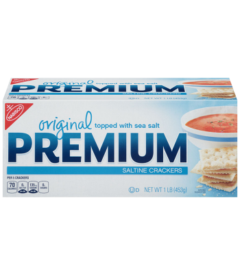 Clearance Special - Nabisco Premium Saltine Crackers 1lb (453g) **Slight Damage** Clearance Zone