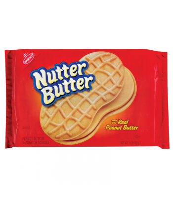 Nutter Butter Creme Peanut Butter Sandwich Cookies 16oz (453g) Cookies and Cakes Nutter Butter