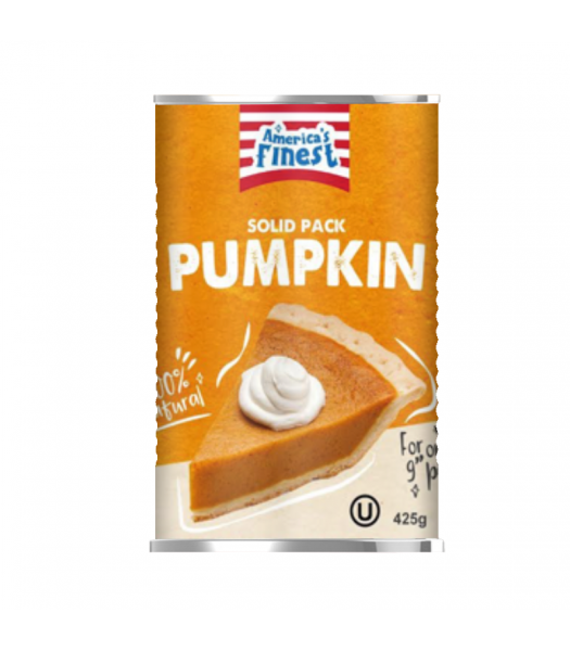 America's Finest 100% Natural Solid Pack Pumpkin - 15oz (425g) Food and Groceries