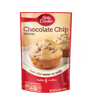 Betty Crocker Chocolate Chip Pouch Muffin Mix - 6.5oz (184g) Food and Groceries Betty Crocker
