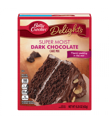 Betty Crocker Delights Super Moist Dark Chocolate Cake Mix - 15.25oz (432g) Food and Groceries Betty Crocker