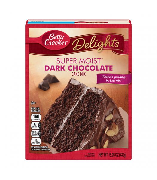 Betty Crocker Delights Super Moist Dark Chocolate Cake Mix - 15.25oz (432g) Food and Groceries Betty Crocker