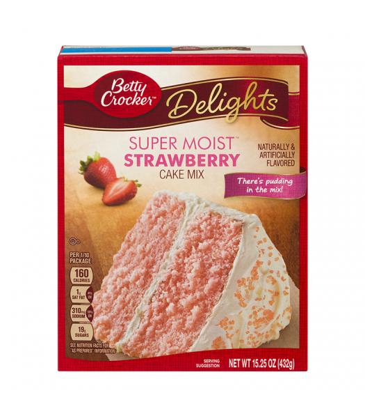 Betty Crocker Delights Super Moist Strawberry Cake Mix - 15.25oz (432g) Food and Groceries Betty Crocker