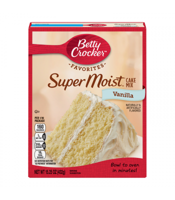 Betty Crocker Super Moist Vanilla Cake Mix - 15.25oz (432g) Food and Groceries Betty Crocker