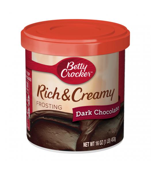 Betty Crocker Rich & Creamy Dark Chocolate Frosting - 16oz (453g) Food and Groceries Betty Crocker