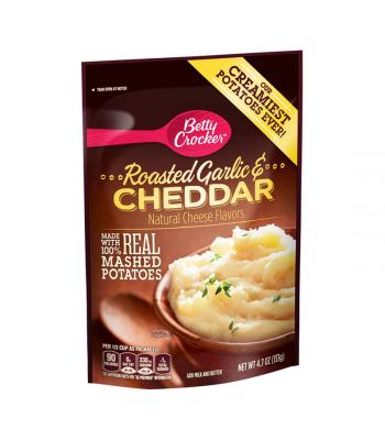 Betty Crocker Roasted Garlic & Cheddar Mashed Potatoes - 4.7oz (133g) Food and Groceries Betty Crocker