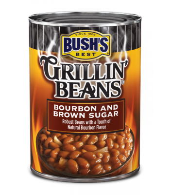 Bush's Best Grillin' Beans Bourbon and Brown Sugar 22oz (624g) Tinned Groceries Bush's Baked Beans