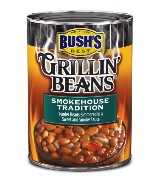 Bush's Best Grillin' Beans Smokehouse Tradition 22oz (624g) Tinned Groceries Bush's Beans