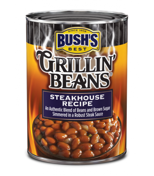 Bush's Best Grillin' Beans Steakhouse Recipe 22oz (624g) Tinned Groceries Bush's Beans