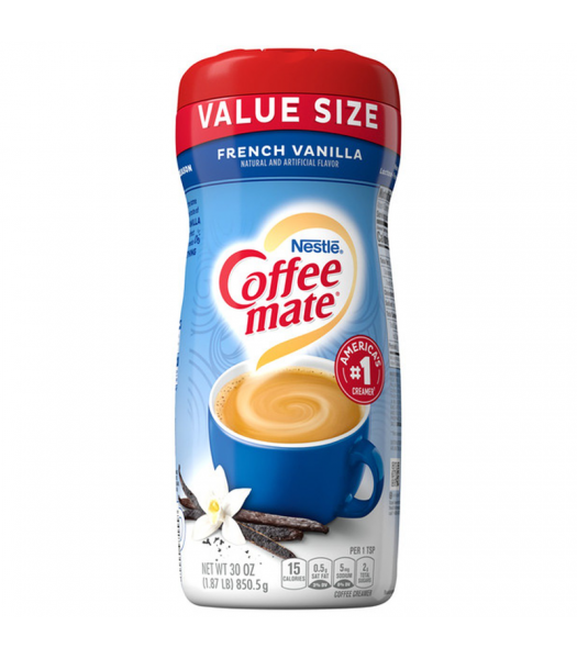 Coffee-Mate Value Size French Vanilla Powder - 30oz (850.5g) Soda and Drinks Coffee Mate