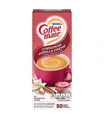 Coffee-Mate - Cinnamon Vanilla - Liquid Creamer Singles - 50-Piece x 3/8fl.oz (11ml) Hot Drinks Coffee Mate