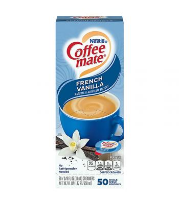 Coffee-Mate - French Vanilla - Liquid Creamer Singles - 50-Piece x 3/8fl.oz (11ml) Hot Drinks Coffee Mate