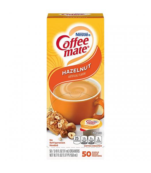 Coffee-Mate - Hazelnut - Liquid Creamer Singles - 50-Piece x 3/8fl.oz (11ml) Hot Drinks Coffee Mate