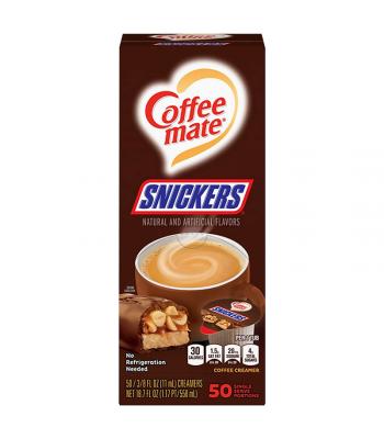 Coffee-Mate - Snickers - Liquid Creamer Singles - 50-Piece x 3/8fl.oz (11ml) Soda and Drinks Coffee Mate